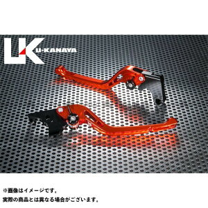 【無料雑誌付き】U-KANAYA FX400R レバー GPタイプ アルミ削り出しビレットレバー(レバーカラー:オレンジ) 調整アジャスターカラー:ゴールド ユーカナヤ