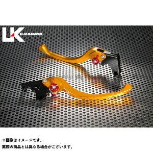 【無料雑誌付き】U-KANAYA GSX400Sカタナ レバー ツーリングタイプ アルミ削り出しビレットレバー(レバーカラー:ゴールド) カラー:調整アジャスター:オレンジ ユーカナヤ