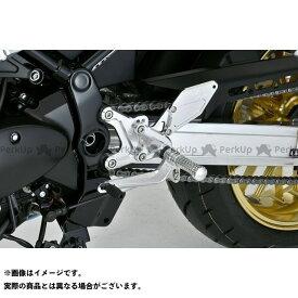 OVER RACING Z900RS バックステップ関連パーツ バックステップ 4ポジション(シルバー) オーバーレーシング