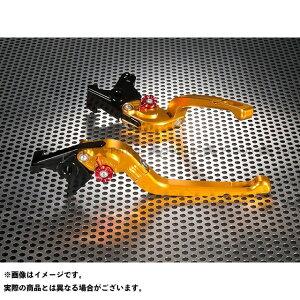 【無料雑誌付き】U-KANAYA CBF1000 レバー Rタイプ 可倒式 アルミ削り出しビレットレバー(レバーカラー:ゴールド) カラー:調整アジャスター:オレンジ ユーカナヤ