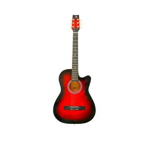 【送料無料】大人用初心者入門者には最適!アコギフォークギター選べる全5色2タイプスタンダードカッタウェイ