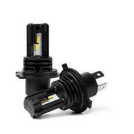 NEW 保証付 H4 HI/LO LED ヘッドライトファンレス一体型 新車検基準対応 6500K ホワイトCREEチップ搭載 2個入cn-5