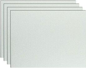 特用サイズ 大型 吸音ボード 4枚入り 賃貸でも安心 防音 壁 斷熱 吸音材 吸音材 壁 防音 壁 硬質吸音 フェルトボード 吸音パネル ホワイト 防音 吸音材 800×600mm×厚さ9 mm