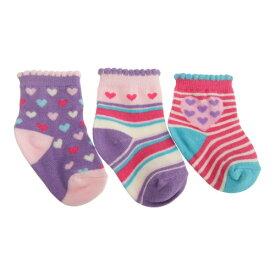 ベビー・赤ちゃん用 柄入り 靴下セット (3足組) ソックス 女の子 【楽天海外直送】