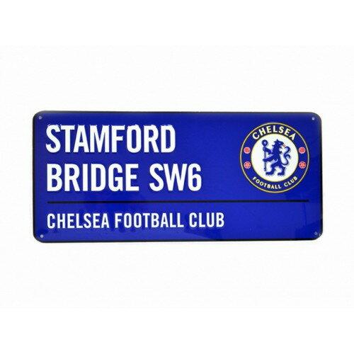 チェルシー フットボールクラブ Chelsea FC オフィシャル商品 ストリートサイン メタルプレート 【楽天海外直送】