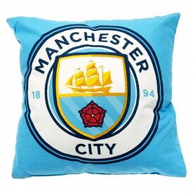 マンチェスター・シティ フットボールクラブ Manchester City FC オフィシャル商品 クレスト クッション 【楽天海外直送】