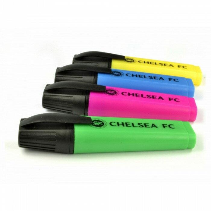 チェルシー フットボールクラブ Chelsea FC オフィシャル商品 蛍光ペン 4色セット 【楽天海外直送】