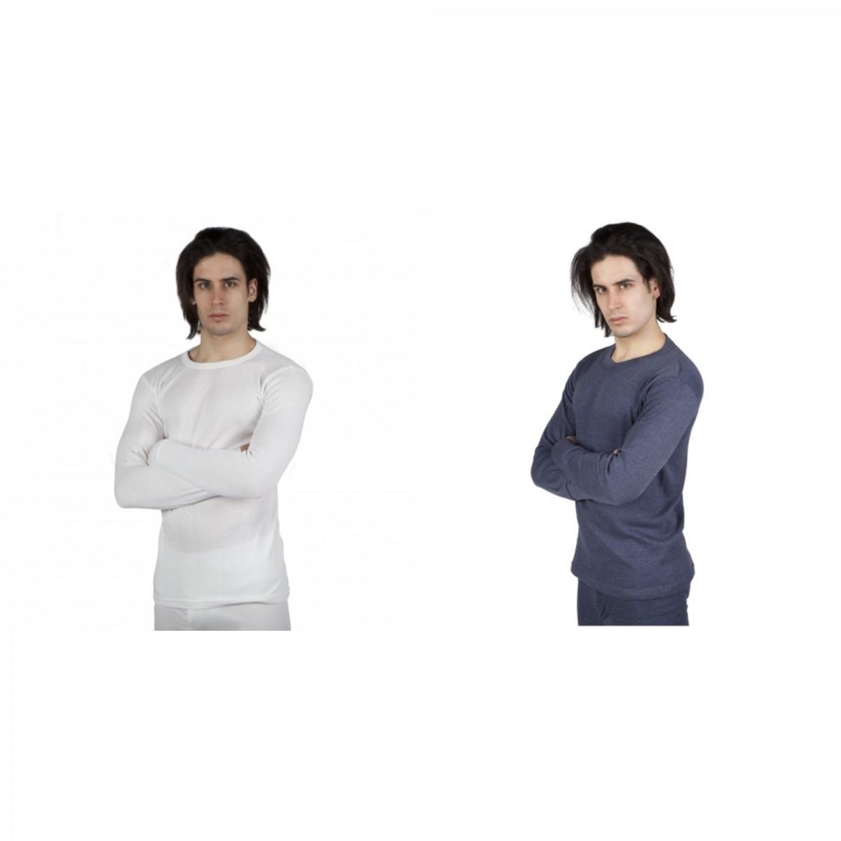 あったか防寒保温下着肌着サーマル長袖インナーTシャツトップス男性用 【楽天海外直送】