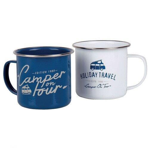 (ホリデー・トラベル) Holiday Travel エナメル マグ キャンプ マグカップ (2個セット) 【楽天海外直送】