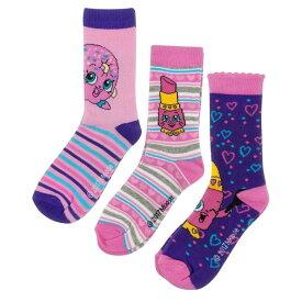 (ショップキンズ) Shopkins オフィシャル商品 子供用 キャラクター アソート ソックス 靴下 (3足組) 女の子 【楽天海外直送】