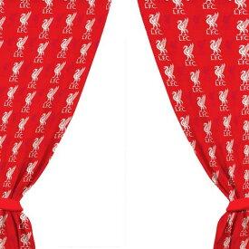 リバプール フットボールクラブ Liverpool FC オフィシャル商品 ロゴ柄 プリント カーテン 【楽天海外直送】