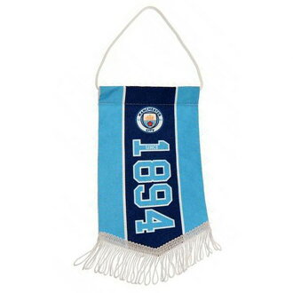 Manchester City football club Manchester City FC official product mini-pennant flag support flag