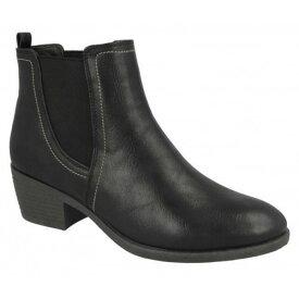 (スポットオン) Spot On レディース ツインガセット アンクルブーツ 婦人靴 カジュアル ミドルヒール ブーツ 女性用 【楽天海外直送】