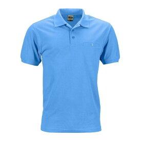 (ジェームズ・アンド・ニコルソン) James & Nicholson メンズ Workwear ポケット 半袖 ポロシャツ 【楽天海外直送】