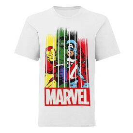 (マーベル) Marvel オフィシャル商品 子供用 キャラクター プリント 半袖 Tシャツ 男の子 【楽天海外直送】