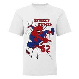 (マーベル) Marvel オフィシャル商品 子供用 スパイダーマン Spidey Power プリント 半袖 Tシャツ 男の子 【楽天海外直送】