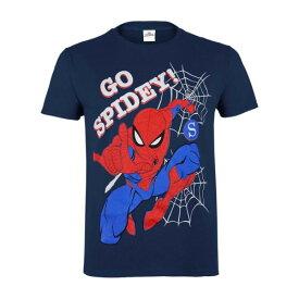 (マーベル) Marvel オフィシャル商品 子供用 スパイダーマン Go Spidey プリント 半袖 Tシャツ 男の子 【楽天海外直送】