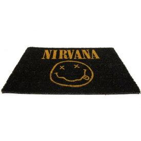 (ニルヴァーナ) Nirvana オフィシャル商品 ロゴ ドアマット 泥落とし ラグ 玄関マット 【楽天海外直送】