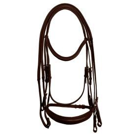 (カレッジエイト) Collegiate 馬用 モノ クラウン パッド入り ライズドレザー カブソン ブライドル 頭絡 馬具 乗馬 ホースライディング 【楽天海外直送】
