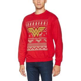 (DCコミックス) DC Comics ワンダーウーマン オフィシャル商品 ユニセックス クリスマス クルーネック スウェットシャツ 【楽天海外直送】