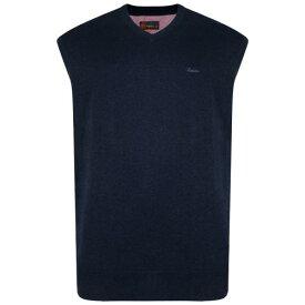 (キャム・ジーンズウェア) Kam Jeanswear メンズ Vネック スリーブレス ニット ベスト セーター 袖なし 【楽天海外直送】