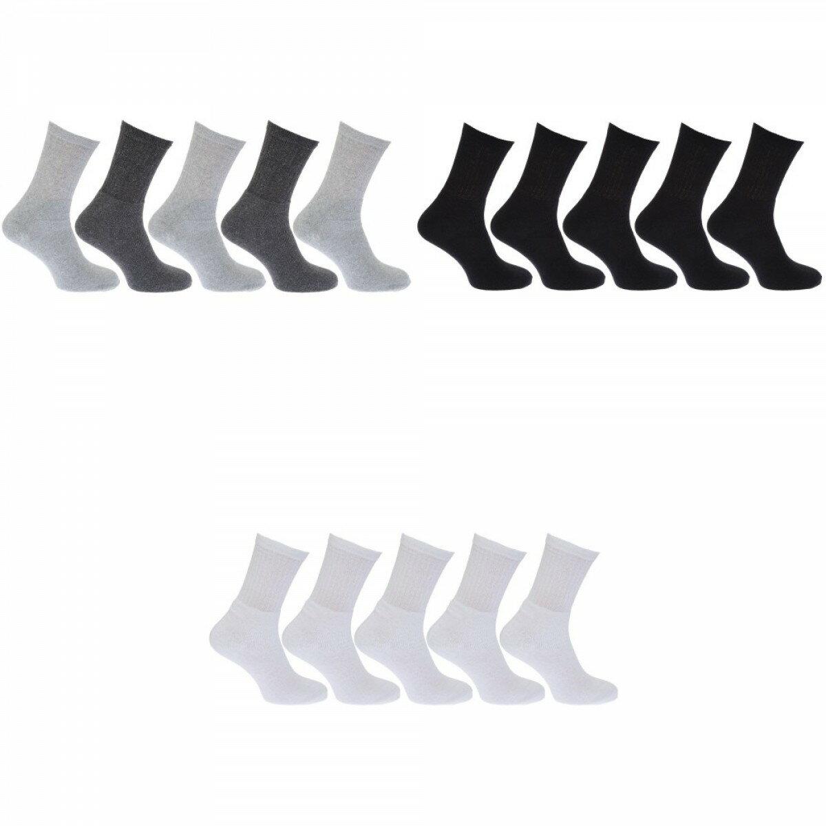 メンズ コットンリッチ スポーツソックス 靴下セット (5足組) 男性用 【楽天海外直送】