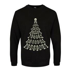 (グラインドストア) Grindstore オフィシャル商品 メンズ クリスマス スカル スウェットシャツ トレーナー 【楽天海外直送】