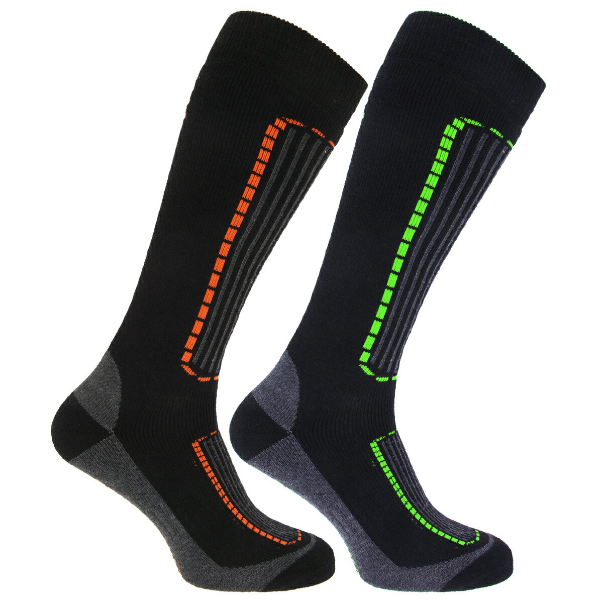 (フロソ) FLOSO メンズ スキーソックス 紳士靴下 スポーツソックス 防寒ソックス 靴下セット (2足組) ウィンタースポーツ 男性用 【楽天海外直送】