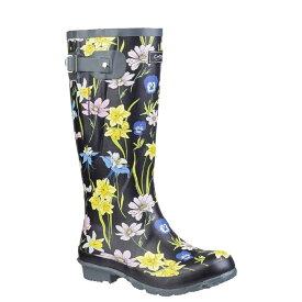 (コッツウォルド) Cotswold レディース Windsor プリント入り ウェリントンブーツ 婦人靴 レインブーツ 長靴 女性用 【楽天海外直送】