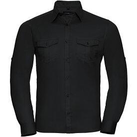 Russell長袖/ロールスリーブワークシャツワイシャツトップス男性用 【楽天海外直送】