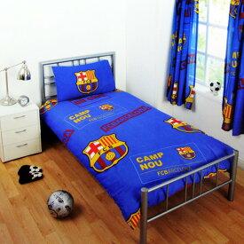 FCバルセロナ フットボールクラブ FC Barcelona オフィシャル パッチ クレスト 掛け布団カバー・枕カバーセット サッカーべディングセット 【楽天海外直送】