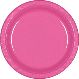 (アムスキャン) Amscan カラー 使い捨て プラスチック皿 (20枚入) 【楽天海外直送】