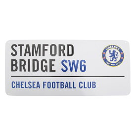 チェルシー フットボールクラブ Chelsea FC オフィシャル Stamford Bridge ストリートサイン メタルプレートサイン サッカーノベルティー看板 【楽天海外直送】