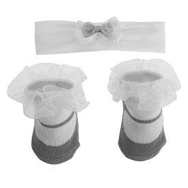 ベビー・赤ちゃん用 リトル・エンジェル 靴下・ヘアバンド 2点セット 女の子 【楽天海外直送】