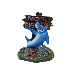 (ローズウッド) Rosewood 水槽用 ブルーリボン クールシャーク オーナメント アクアリウム 置物 熱帯魚 【楽天海外直送】