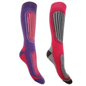 (フロソ) FLOSO レディース スキーソックス 婦人靴下 冬用ソックス スポーツ靴下 (2足組) 女性用 【楽天海外直送】