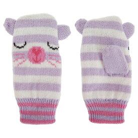 ベビー・赤ちゃん用 みみつき どうぶつのニット手袋 ベビーミトン ニットグローブ 冬 【楽天海外直送】