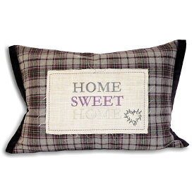 (リーヴァ・ホーム) Riva Home シャビー Home sweet Home クッションカバー (カバーのみ) チェック インテリアのアクセント おしゃれなクッションカバー 【楽天海外直送】