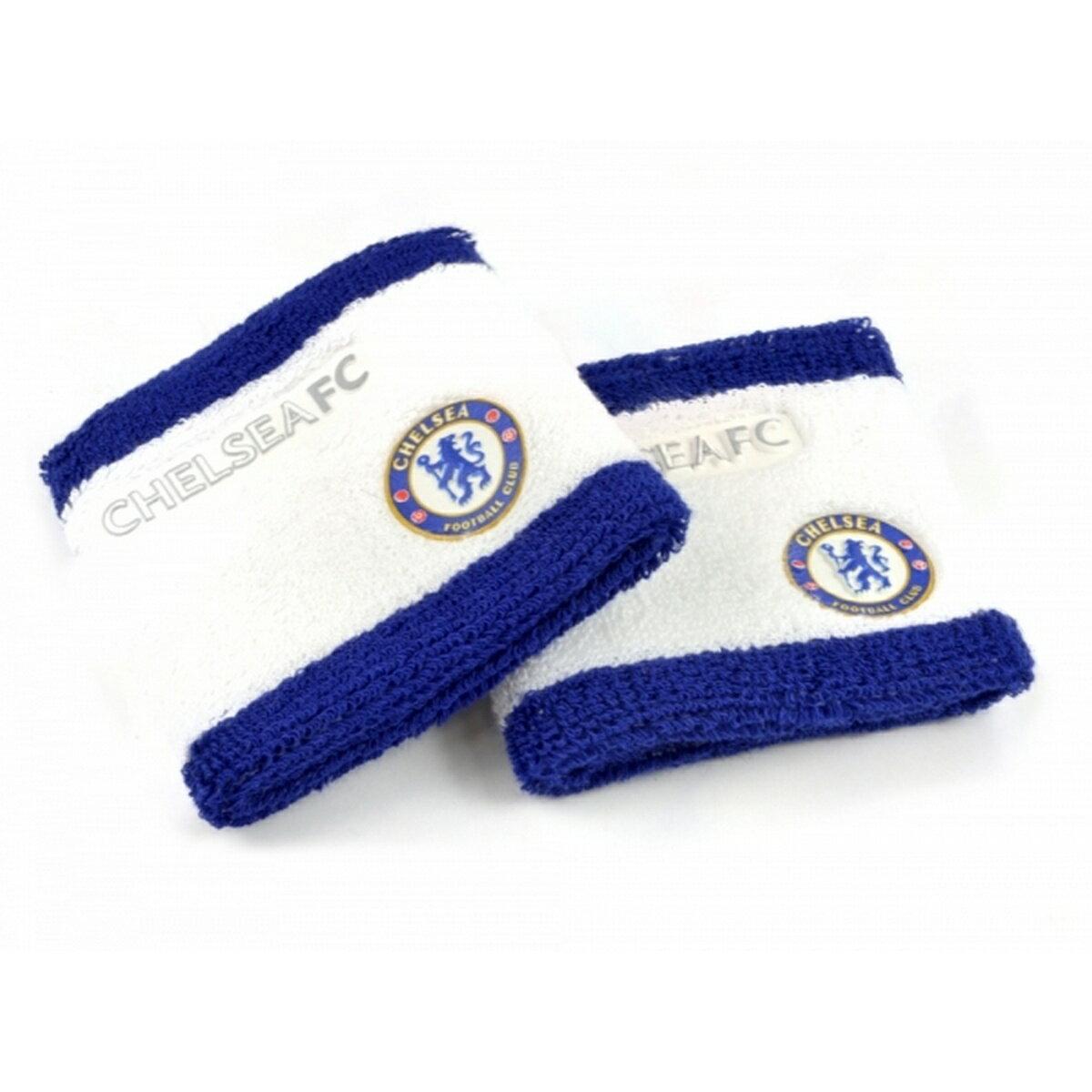 チェルシー フットボールクラブ Chelsea FC オフィシャル商品 スポーツ 汗取り リストバンド 2個セット 【楽天海外直送】