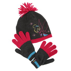 (ディズニー) Disney キッズ・子供 ガールズ ティンカーベル ニット帽・手袋 2点セット ビーニーハット グローブ 女の子 冬 【楽天海外直送】