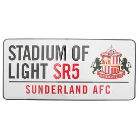サンダーランド・アソシエーション・フットボール・クラブ Sunderland AFC オフィシャル クレストデザイン ストリートサイン イギリス道路標識風 ノベルティー看板 イギリスサッカー 【楽天海外直送】