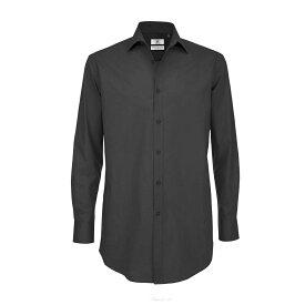 (ビー・アンド・シー) B&C メンズ ブラックタイ 長袖 フォーマルシャツ ワークシャツ オフィス ロングスリーブ 【楽天海外直送】