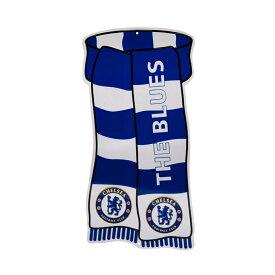 チェルシー フットボールクラブ Chelsea FC オフィシャル商品 フットボールスカーフ型 ブリキ看板 【楽天海外直送】