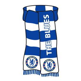 チェルシー フットボールクラブ Chelsea FC オフィシャル商品 フットボールスカーフ型 ブリキ看板 【海外通販】
