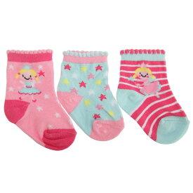 ベビー・赤ちゃん用 妖精のデザイン 靴下セット (3足組) ソックス 女の子 【楽天海外直送】
