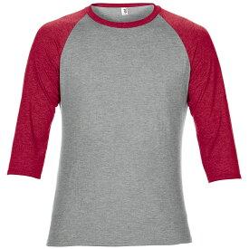 (アンヴィル) Anvil ユニセックス ツートーン トライブレンド 七分袖 ラグランTシャツ カットソー ベースボールTシャツ 【楽天海外直送】
