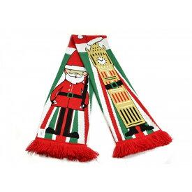 イギリス ビッグ・ベン サンタクロース クリスマス マフラー 冬 【楽天海外直送】