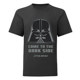 (スター・ウォーズ) Star Wars オフィシャル商品 キッズ・子供 ボーイズ Come To The Dark ダースべーダー Tシャツ 半袖 カットソー トップス 【楽天海外直送】