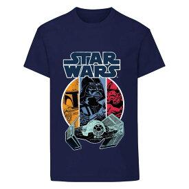 (スター・ウォーズ) Star Wars オフィシャル商品 キッズ・子供 ボーイズ Vader and Boba Fett Tシャツ 半袖 カットソー トップス 【楽天海外直送】