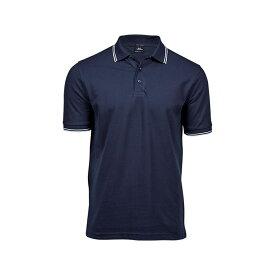 (ティー・ジェイズ) Tee Jays メンズ ラグジュアリー ストライプ ポロシャツ 半袖 トップス カットソー 【楽天海外直送】